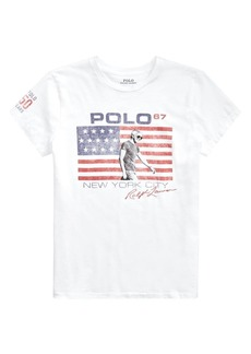 Ralph Lauren: Polo Logo American Flag Graphic Tee
