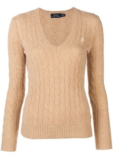 Ralph Lauren: Polo logo cable-knit sweater