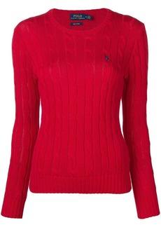Ralph Lauren: Polo logo cable knit sweater