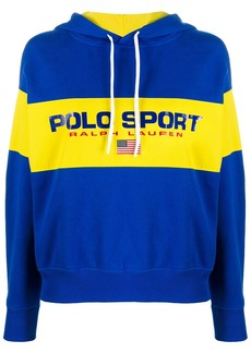 Ralph Lauren: Polo logo colour-block hoodie