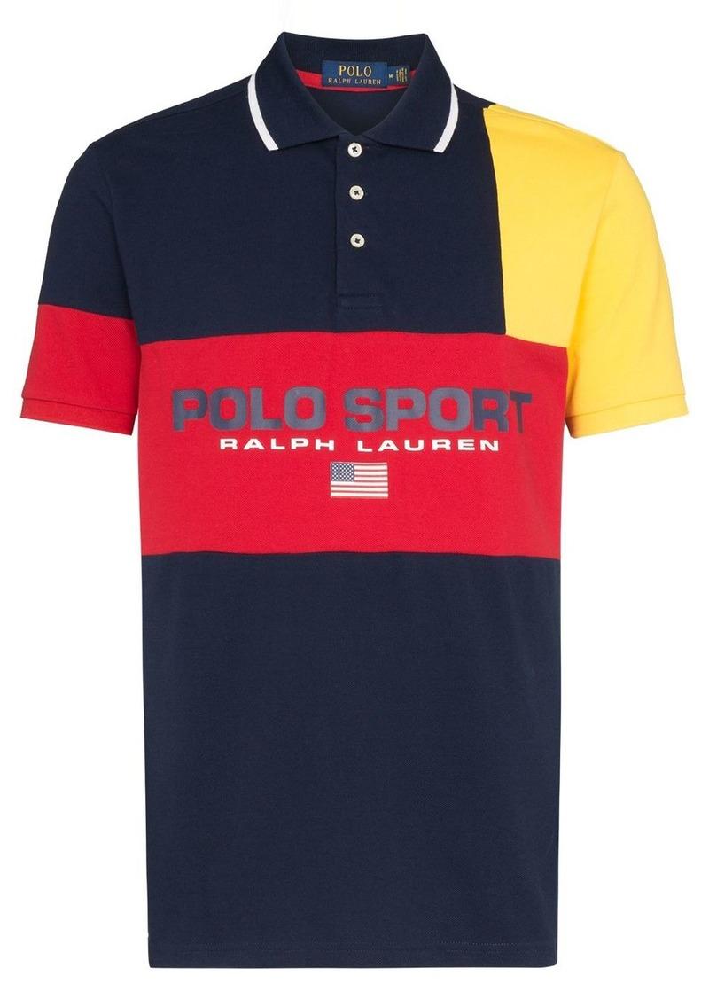 Ralph Lauren Polo logo colour block polo shirt