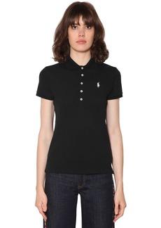 Ralph Lauren: Polo Logo Detail Cotton Piqué Polo Shirt