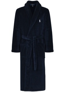 Ralph Lauren Polo logo-embroidered cotton robe