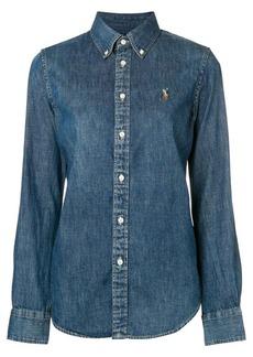 Ralph Lauren: Polo logo embroidered denim shirt
