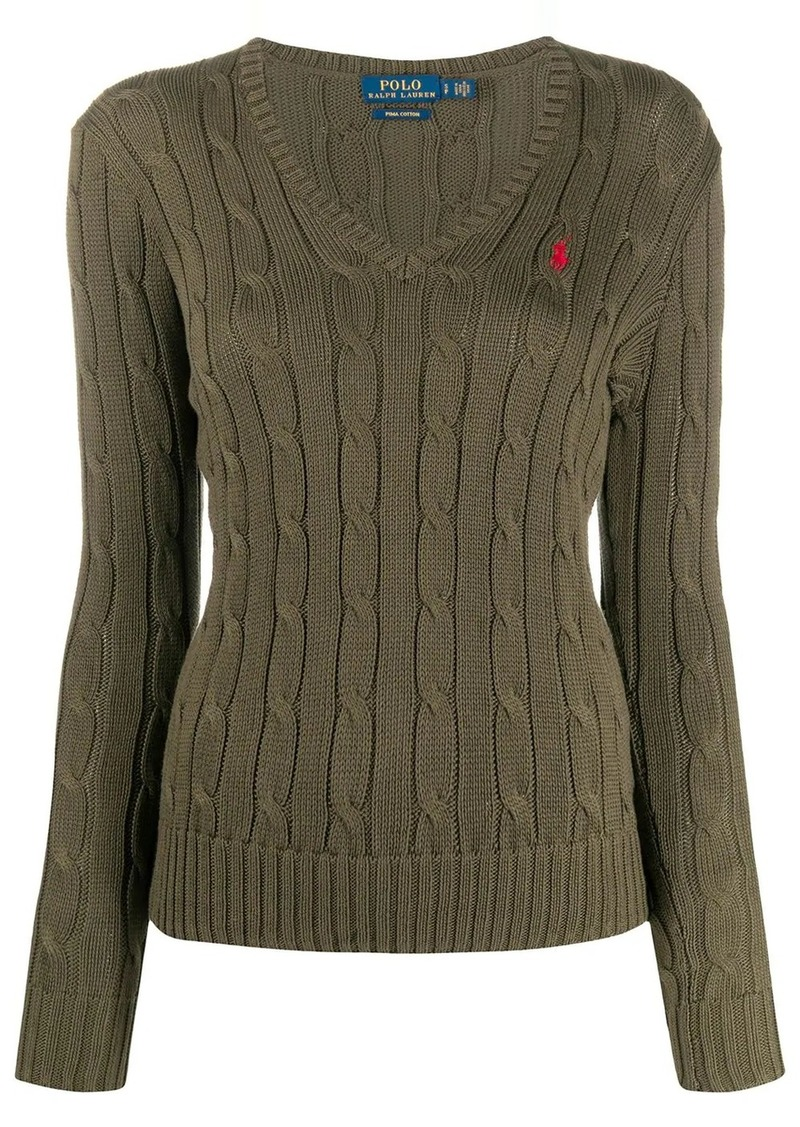 Ralph Lauren: Polo logo embroidered jumper