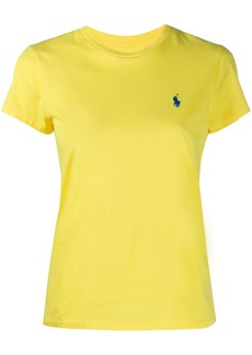 Ralph Lauren: Polo logo embroidered slim-fit T-shirt