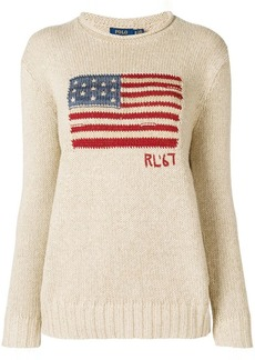Ralph Lauren: Polo logo flag embroidered sweater