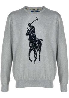 Ralph Lauren Polo logo intarsia jumper