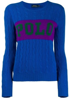 Ralph Lauren: Polo logo knitted jumper
