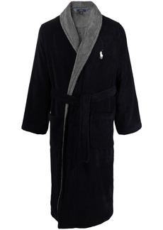 Ralph Lauren Polo logo patch two-tone robe