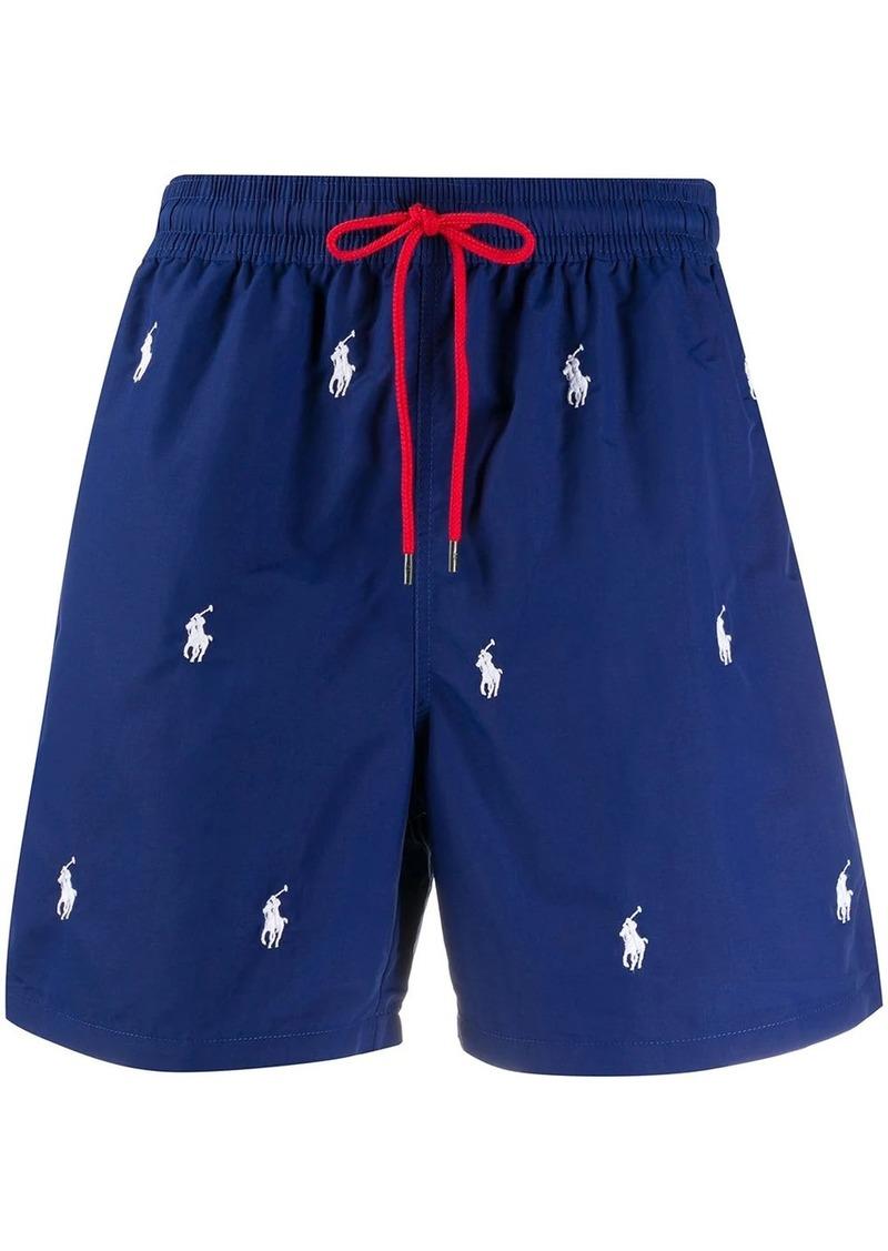 Ralph Lauren Polo logo pattern swimming shorts