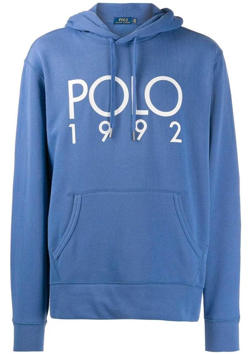Ralph Lauren Polo logo print hoodie