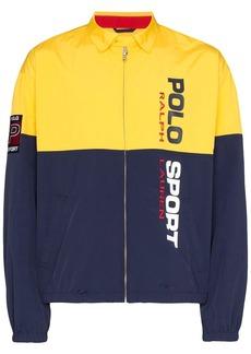 Ralph Lauren Polo logo print zip-front panelled jacket