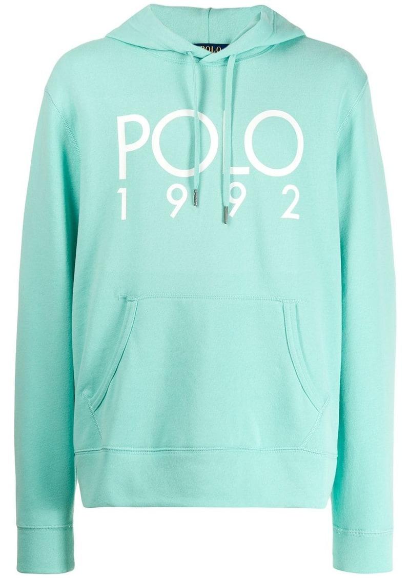 Ralph Lauren Polo logo printed hoodie