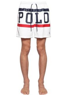 Ralph Lauren Polo Logo Printed Nylon Swimsuit