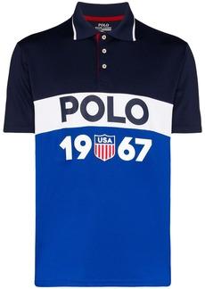 Ralph Lauren Polo colour-blocked logo-print polo shirt