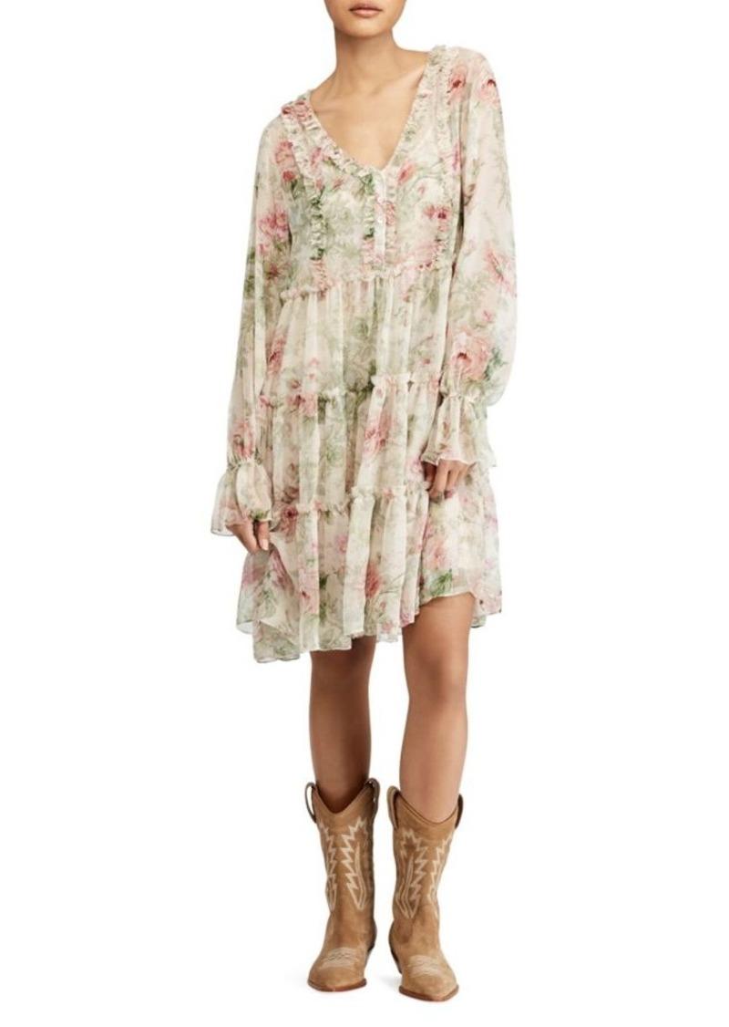 Ralph Lauren: Polo Long Sleeve Floral Alexa Dress