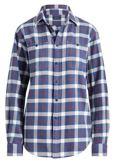 Ralph Lauren: Polo Long Sleeve Plaid Big Shirt