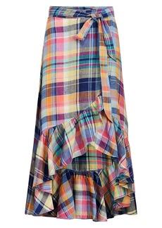 Ralph Lauren: Polo Madras Linen Wrap Skirt