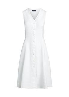 Ralph Lauren: Polo Meg Linen Mid-Length Dress