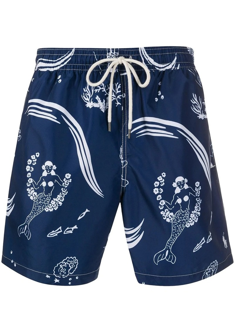 Ralph Lauren Polo mermaid print swimming shorts