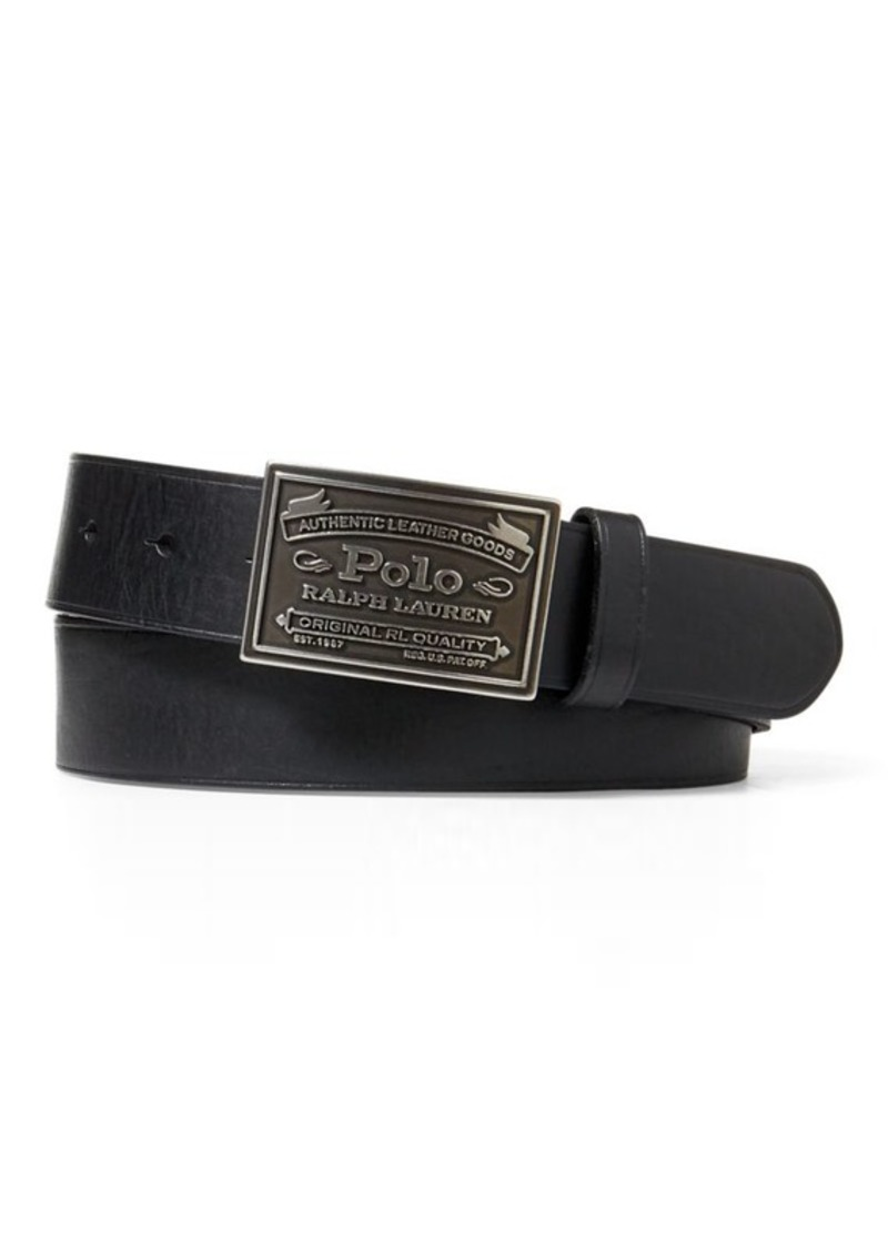 c81d307c24 Polo Metal Plaque Buckle Belt