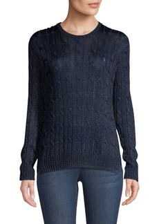 Ralph Lauren: Polo Metallic Cable-Knit Sweater