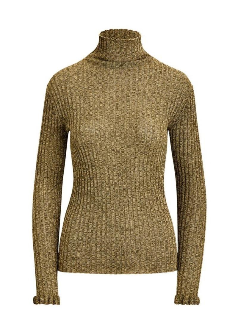 Ralph Lauren: Polo Metallic Knit Turtleneck Sweater