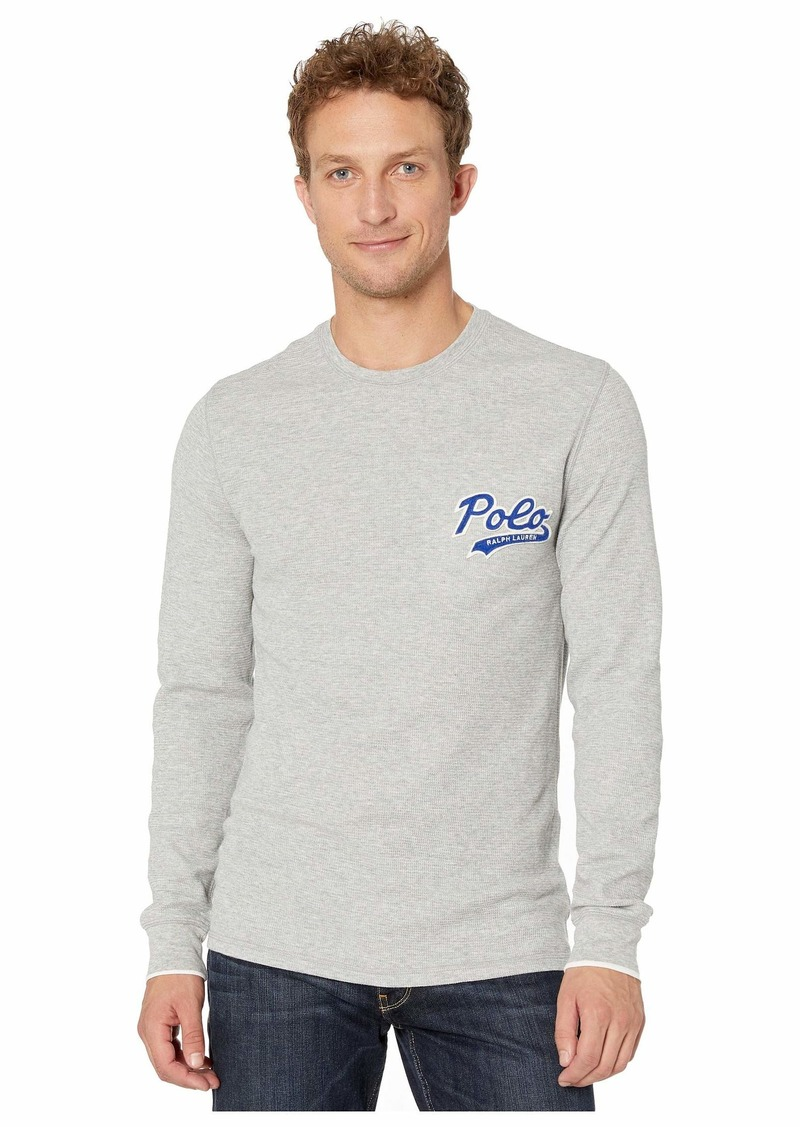 Ralph Lauren Polo Midweight Waffle Long Sleeve Crew Polo