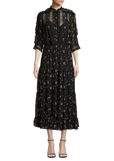 Ralph Lauren: Polo Mockneck Floral Midi Dress