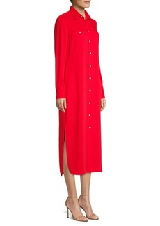 Ralph Lauren: Polo Modern Drape Long-Sleeve Shirtdress