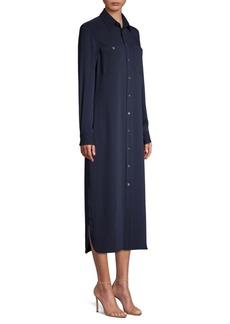 Ralph Lauren: Polo Modern Drape Long-Sleeve Shirtdress