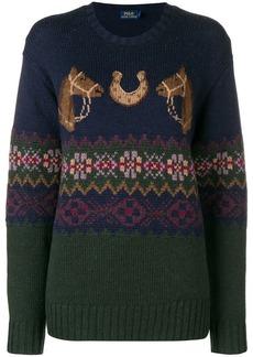 Ralph Lauren: Polo motif knit sweater