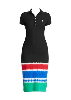 Ralph Lauren: Polo Nativity Tie Dye-Hem Polo Sheath Dress