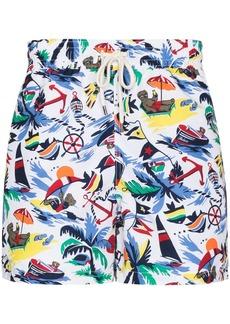 Ralph Lauren Polo nautical print swim shorts