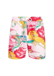 Ralph Lauren Polo Nautical Print Swim Trunks