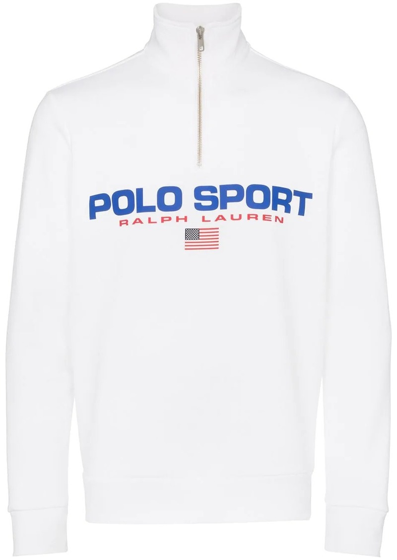 Ralph Lauren Polo Neon logo fleece sweatshirt