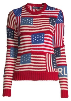Ralph Lauren: Polo Novelty Flag-Patch Polo Sweater
