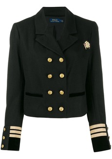 Ralph Lauren: Polo officer style cropped blazer