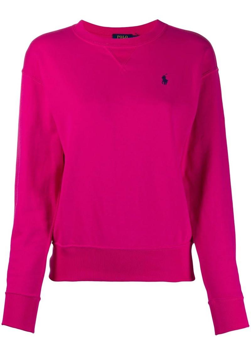 Ralph Lauren: Polo oversized logo-embroidery sweatshirt
