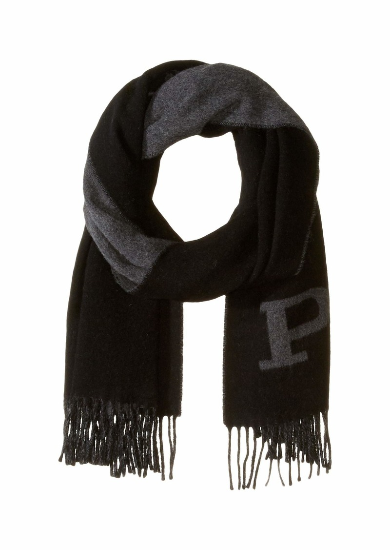 Ralph Lauren Polo Oversized Stacked Polo Pony Jacquard Scarf