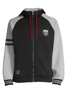 Ralph Lauren Polo P-Wing Double-Knit Graphic Hoodie