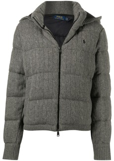 Ralph Lauren: Polo padded cable knit jacket