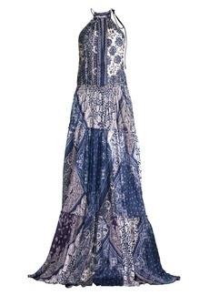 Ralph Lauren: Polo Paisley Halterneck Maxi Dress