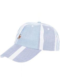 Ralph Lauren Polo Paneled Striped Oxford Ball Cap