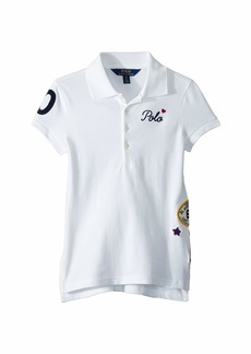 Ralph Lauren: Polo Patchwork Stretch Piqué Polo (Little Kids/Big Kids)