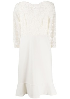 Ralph Lauren: Polo peplum-hem lace dress