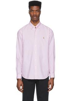 Ralph Lauren Polo Pink & White Striped Oxford Shirt