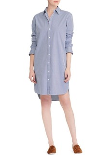Ralph Lauren: Polo Pinstriped Cotton Shirtdress
