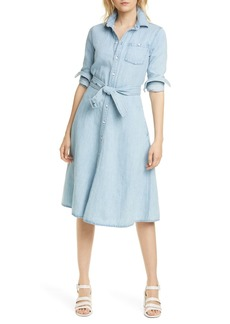 Ralph Lauren: Polo Pinto Long Sleeve Chambray Shirtdress